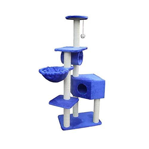 Daeou kratzbäume für Katzen Haustier Katze Baum Raubkatze Plattform Plüsch Katze nisten 60 * 40 * 155 cm