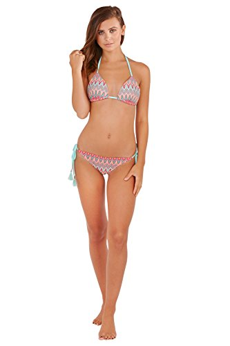 Boutique Damen Bikini-Set grün grün 34 Multi ZigZag