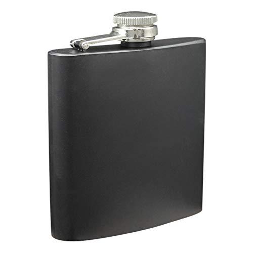 TAOtTAO Stainless Steel Flask Edelstahl-Taschen-Flachmann-Alkohol-Whisky-Alkohol-Schrauben-Kappe 6 Unze