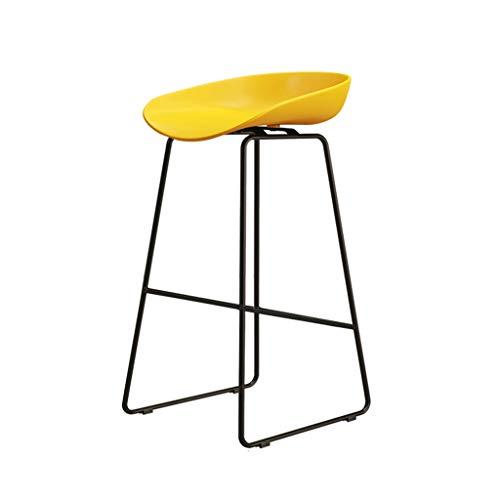 Eisen Barhocker Industrial Style für Küche und Restaurant Barhocker Sitzhöhe 75 cm / 65 cm / 45 cm Gelb - Eisen Barhocker