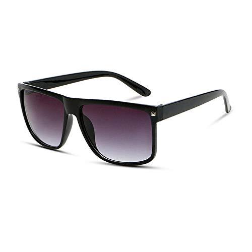 Sonnenbrille Vintage Oversize Sonnenbrille Männer Designer Quadrat Sonne Brille Frauen Männer Im Freien Fahren Brillen Uv 400 Black-Gray