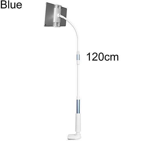 Sguan-wu Tablet Ständer Verstellbare, Ständer Tablet Halterung Flexibler Hals Tabelle Clip-on Tablet-Handyhalterung, für iPad Blue 120 cm