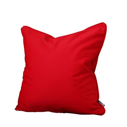 Uus Klassische chinesische rote Sofa Kissenbezug für Hochzeitszimmer Mahagoni Sofa große Kissenbezug rote Farbe durch natürliche Baumwolle gemacht (Farbe : Pure Red, größe : 55 * 55)