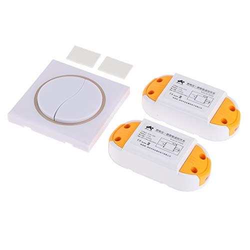 D DOLITY Drahtlose Sender DC 1-Kanal-Fernbedienung Licht Schalter Fernbedienung mit 2 x Empfänger 433Mhz