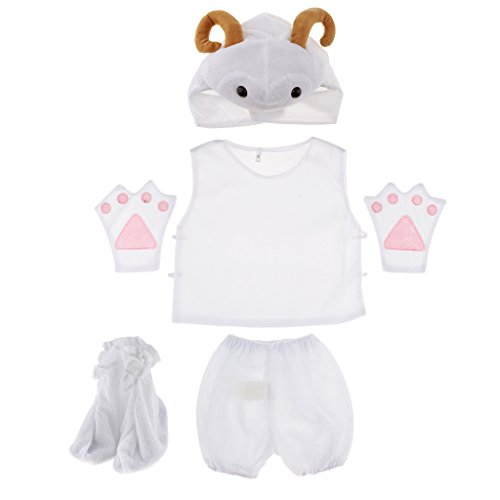 Kinder Kostüm Schaf - MagiDeal Kinder Tier Kostüm - Schaf