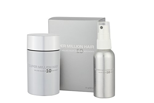 Super Million Hair Testset Schütthaar Streuhaare Haarverdichtung 15 g / 60 ml Medium-Brown (23)