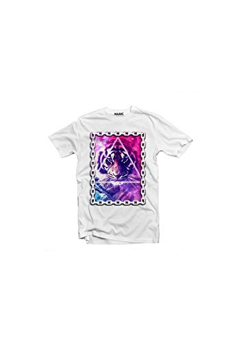 Magic Custom - Tshirt Galaxy Chain Tiger - Blanc - XL
