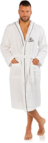 Cressi Swim Bathrobe Sport Bademantel, Weiß, L