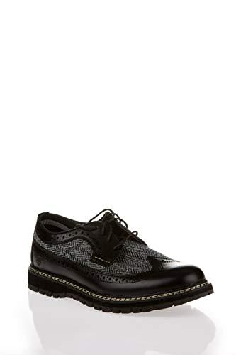 Timberland Britton Hill Leather   Fabric Brogue Black   Harris Tweed UK 10