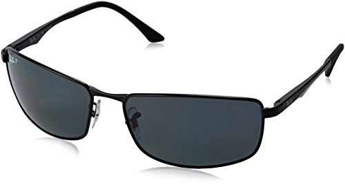 Ray-Ban Herren Sonnenbrille 0rb3498, Matte Black/Polar Gray, One Size (64)