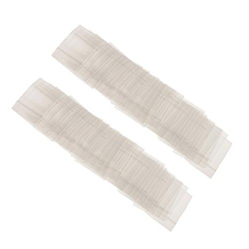 Preisvergleich Produktbild 100pcs Klar Druckverschlussbeutel Sortiment Reißverschlusstasche Mit Reißverschlussbeutel Plastikbaggies Wiederverschließbar - 100pcs 2.5*2.8CM