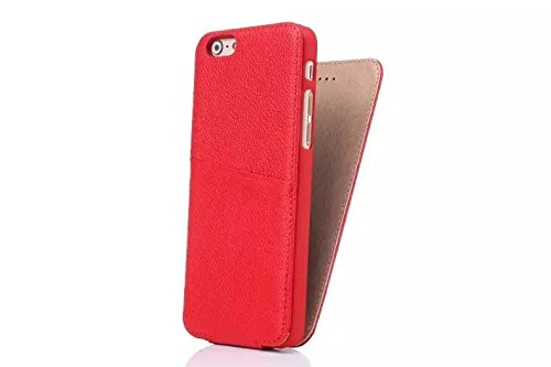JIALUN-Telefon Fall Für IPhone 6 Plus & 6s Plus, Magnetic Closure Design Vertikale Flip Case, Luxus Premium Echt Leder Schutzhülle ( Color : Red ) Red
