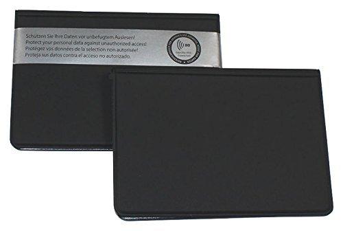 ID Protec 18200 RFID Schutzhülle für ePerso und 2 weitere Karten im Kreditkartenformat, schwarz -