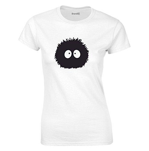 Susuwatari, Mesdames T-shirt imprimé - Blanc/Noir M = 82-86cm