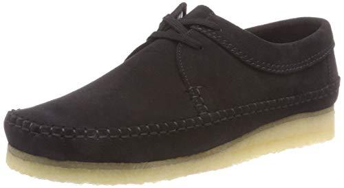 Clarks Originals Mens Wallabee Boot (Clarks Originals Herren Weaver Derbys, Schwarz (Black Suede), 42.5 EU)