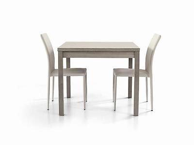 ZeroDueZero Tavolo Legno Moderno Allungabile Rovere Grigio - X Sala Salotto Cucina Temp