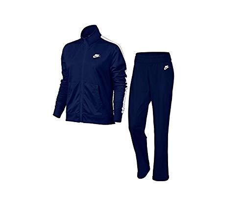 Nike W NSW TRK PK Oh Trainingsanzug, Damen M Blau (White/Blue Void)