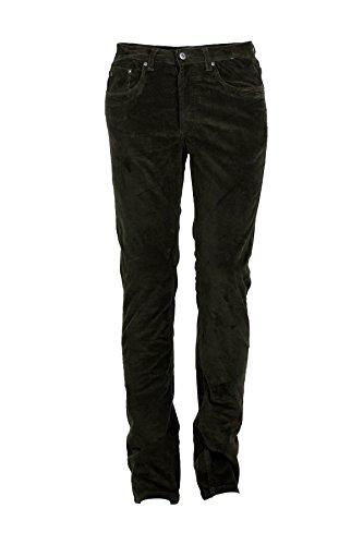 Pantaloni 5 tasche velluto verdone, 48