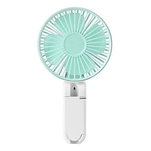 Tragbarer USB wiederaufladbarer Regenschirm Hängelüfter Schreibtisch Mini Faltbarer Ventilator Luftkühlung für Büro Outdoor Reisen