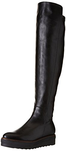 Donna Piu 10111 Clio, Bottes Souples Femme Noir (Opale Nero/Nappa Stretch Nero)