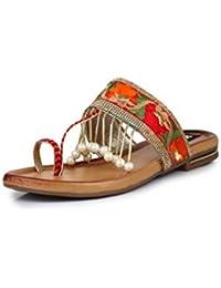 Sapatos Orange Flats