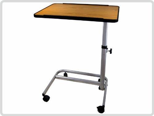 Beistelltisch Beistellwagen Krankentisch Bett-Tisch/ braun fahrbar *Top-Qualität zum Top-Preis*