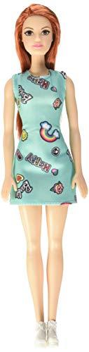 Barbie Fashionista Muñeca Chic pelirroja vestido azu (Mattel FJF18)