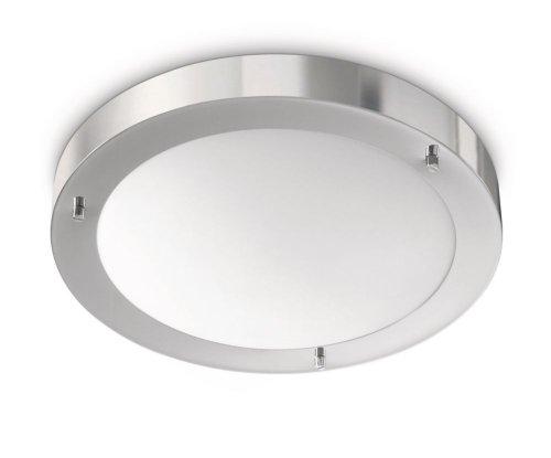 Philips Salts Plafonnier Chrome Luminaire Salle de Bain Métal Métallique 1 x 20 W