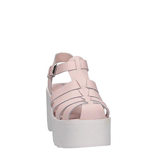 Windsor Smith Fluffy Leather, Chaussures À Talons Hauts Pour Femmes Avec Bande En T En Poudre Rose