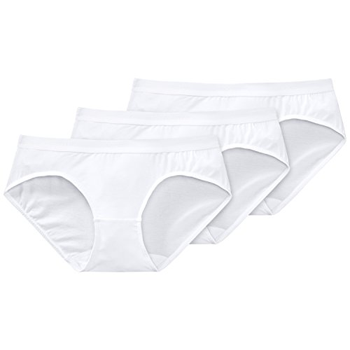 Schiesser Damen Slip 3-er Pack 205560, Gr. 10 (S), Weiß (100-weiss)