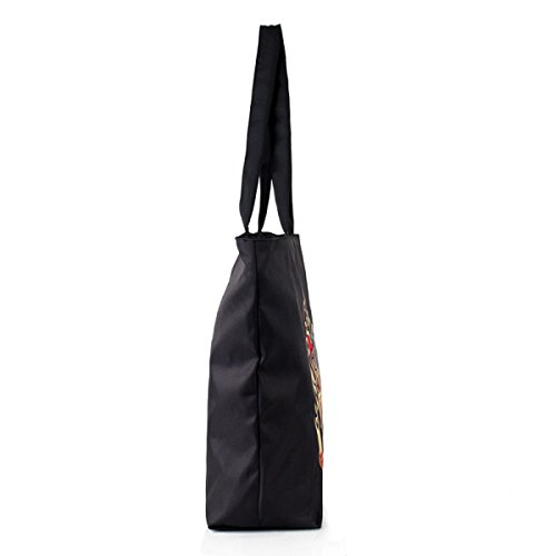 Tote Di Tela Delle Donne Borsa Da Stampa Digitale Campus Winds Lady Lady Black