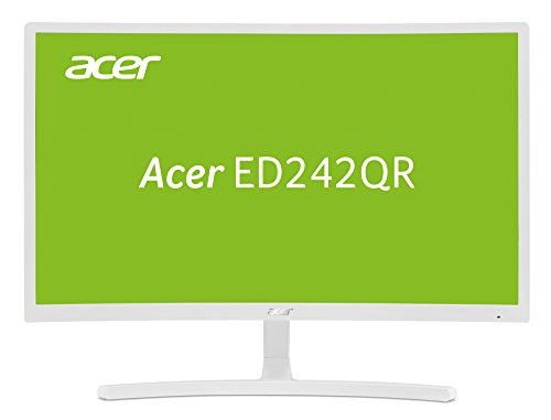 Acer ED242QRwi 60 cm (23,6 Zoll) Multimedia Curved Monitor (Full HD, 1.920 x 1.080, 75hz, 4ms Reaktionszeit, ZeroFrame, HDMI, VGA) weiß -