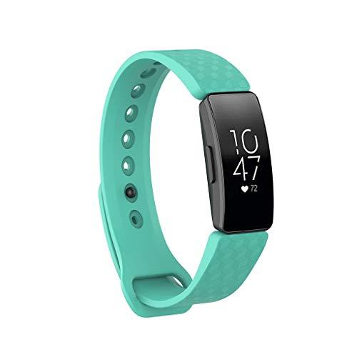 Sansee Uhrenarmbänder Silikon Ersatzbänder Armband Klein für Fitbit Inspire/Inspire HR für Frauen Männer (Grün) Garmin 76 Serie