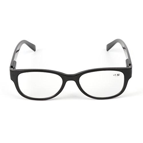 Kimruida Lesebrille Frühling Scharnier Quadrat Unisex Presbyopic Brillen 1.0 + ~ 4,0 + Gläser