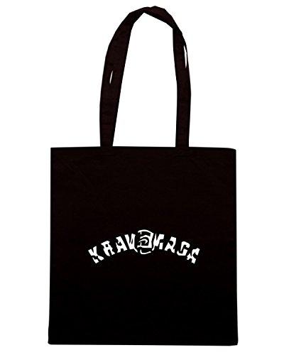 T-Shirtshock - Borsa Shopping TBOXE0086 krav maga vec 1en Nero