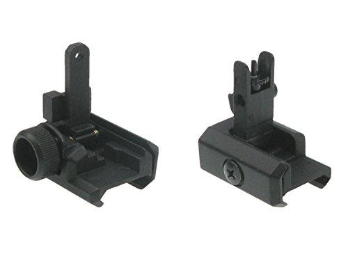 BEGADI Softair/Airsoft FlipUp Visiere Set aus Metall, passend für Weaverschienen (2 Stück)