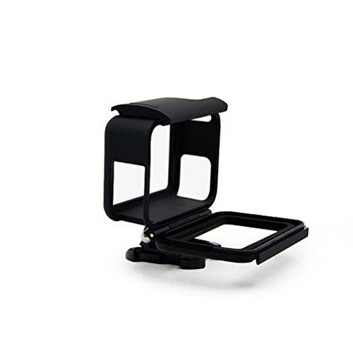 Telaio per GoPro, Custodia protettiva impermeabile con Quick Mount rilascio e zigrinata per GoPro Hero (Nero Piano Telaio)