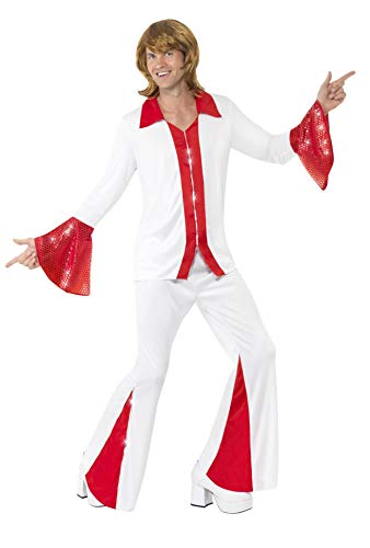 Male Adult ABBA red and white 70s costume.