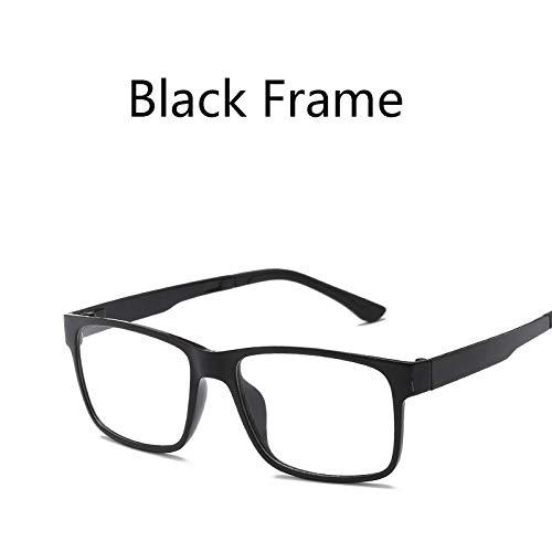 LKVNHP Tr90 Magnet Clip Auf Polarisierte Sonnenbrille Männer Frauen Platz Fahrspiegel Sonnenbrille Männlichen Doppelgläser Oculos De Sol Uv400Schwarz Rahmen