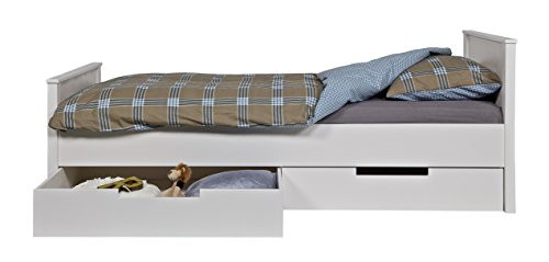 Promo Alfred & Compagnie - Chambre enfant essentielle bois massif blanc kaja junior