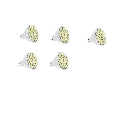 5W Spot LED MR16 30 SMD SMD 5050 420 lm Blanc Chaud Blanc V 5 pièces ( Connecteur : GU5.3 , Couleur de source : Blanc chaud )