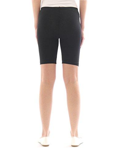 Femmes Sport Shorts Shorty Shorts Sport Radler court Leggings Coton Jaune