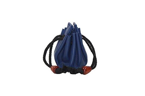 Frédéric&Johns ® - Münzbeutel - Piraten münzbeutel - lederbeutel - Tabaktasche - Mittelalter Geldbeutel - Geldbörse aus Leder (Blau) (Piraten-münzbeutel)