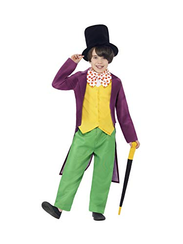 Kind Wonka Kostüm Willy - Smiffys Willy Wonka - Roald Dahl - Kinder Kostüm - Medium - 143cm- Alter 7-9