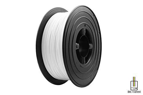 OWL-Filament Premium 3D PLA Filament 1kg 1,75mm Made in Germany (Weiß) -