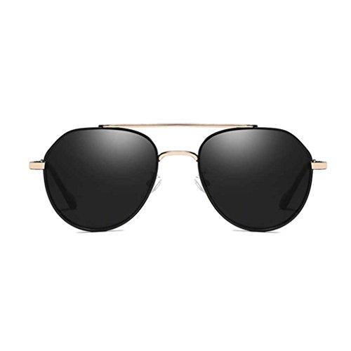 Minzhi Autofahren Angel Sun Glasses M?nner Retro Pilot Sunblock Sonnenbrille polarisierte Licht Metallrahmen Brillen Pilot-licht