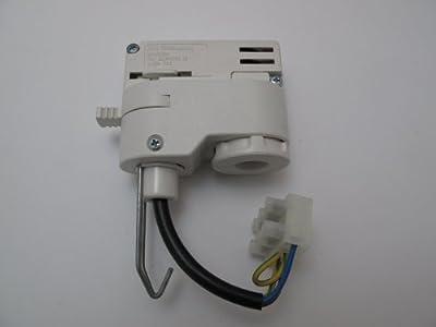 ERCO 79055 3 Phasen Adapter Weiss für Pendelleuchten mit Haken von ERCO bei Lampenhans.de