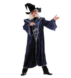 NEU Herren-Kostüm Zauberer Sterne, blau Gr. 54-56