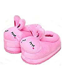 Zapatos de animales de dibujos animados inicio zapatos cálidos zapatillas de casa de felpa suave neutra zapatos de animales