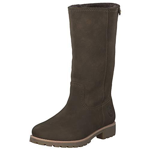 Panama Jack Damen Winterstiefel Bambina Igloo,Frauen Winter-Boots,Fellboots,Lammfellstiefel,Fellstiefel,gefüttert,warm,Khaki,EU 39 (Keil Winter Damen Stiefel)